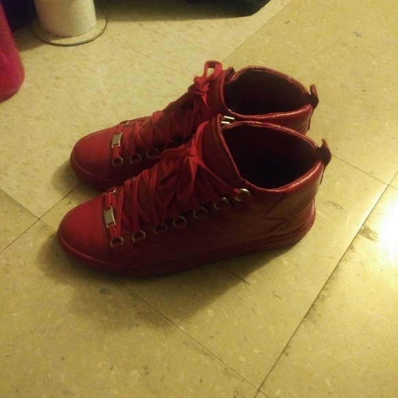 Balenciaga Shoes | Red Areana | Poshmark